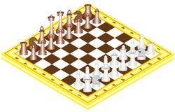 Schacket på schack stiger ombord Royaltyfri Fotografi