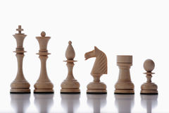 schacket pieces white Arkivfoton