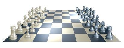 Schacket stiger ombord och lappar royaltyfri illustrationer
