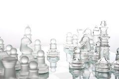 schackexponeringsglas Arkivfoto