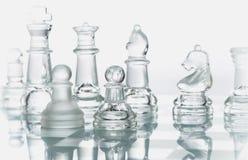 schackexponeringsglas Royaltyfria Bilder