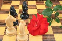 schackförälskelse arkivfoto