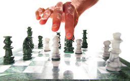 schackflyttning Arkivbilder