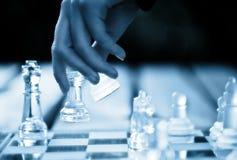 schackflyttning royaltyfri foto