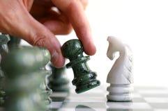 schackflyttning Fotografering för Bildbyråer