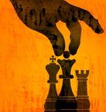 Schackflyttning - ledar- slaglängd Arkivfoton