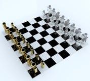 schackfolk för bräde 3d Royaltyfria Foton