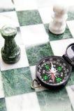 schackkompass Fotografering för Bildbyråer