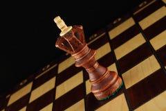 schackkonung Arkivbilder