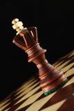 schackkonung Arkivfoto