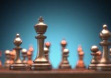 Schackkonung Piece Fotografering för Bildbyråer