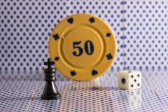 Schackkonungen och annan anmärker för populära brädelekar Royaltyfri Fotografi
