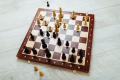 Schacklek i handling Royaltyfri Fotografi
