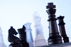 schackmatt schacklek Royaltyfri Fotografi