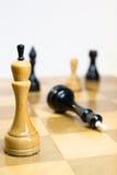 schackmatt vit seger Royaltyfri Fotografi