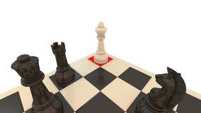 schackmattt schack Royaltyfria Foton