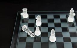 schackmattt schackexponeringsglas Royaltyfri Bild