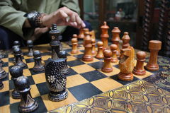 Schackmotivbatiken Royaltyfria Bilder