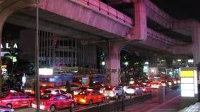 Schackningsperiod för Bangkok trafiktid arkivfilmer