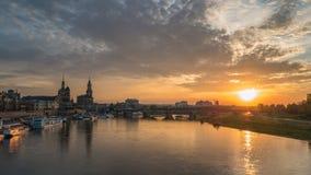 Schackningsperiod för Dresden Tysklandtid lager videofilmer