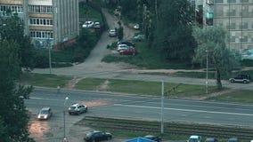 Schackningsperiod för gatatrafiktid arkivfilmer
