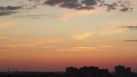 Schackningsperiod för solnedgånghimmeltid arkivfilmer