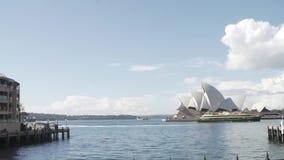 Schackningsperiod för Sydney hamntid lager videofilmer