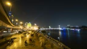 Schackningsperiod för tid för KairoCorniche gata lager videofilmer