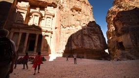 schackningsperiod för tid 4K, Petra, Jordanien arkivfilmer