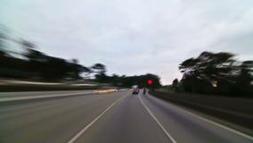 Schackningsperiod Golden gate bridge för SF-stadskörning Tid lager videofilmer