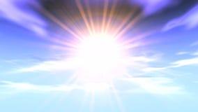 Schackningsperioden för himmelstråltid fördunklar solen stock video