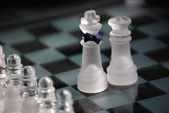 schackpar royaltyfria bilder