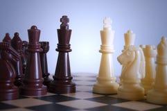 Schackpjässtrid Arkivfoto