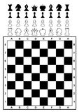schackschackbrädeset Arkivbilder