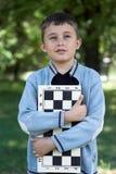 schackspelarebarn Royaltyfri Foto