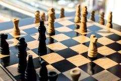Schackstrid med hög kontrast och belysning som ser utvändiga wi royaltyfri foto