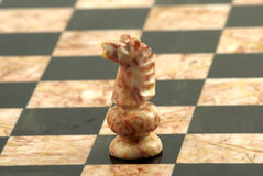 Schackstycke, vit riddare Arkivbild