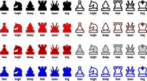 schackstycken vektor illustrationer