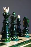 Schackstycken på schack Arkivbilder