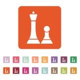 Schacksymbolen modigt model symbol för överdängare 3d plant stock illustrationer