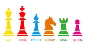Schacksymboler också vektor för coreldrawillustration Royaltyfri Foto