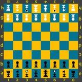 schacktabell Royaltyfri Bild