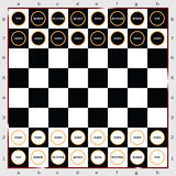 Schacktecken och symbolsvektor Royaltyfria Bilder