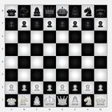 Schackuppsättning Arkivfoton