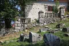 Schade aan Joodse Begraafplaats in Bosnische Oorlog, Sarajevo royalty-vrije stock afbeeldingen