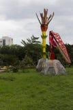Schade door de Tyfoon Soulik aan de stad die van Taipeh wordt aangericht Royalty-vrije Stock Afbeelding