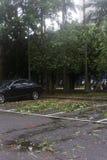 Schade door de Tyfoon Soulik aan de stad die van Taipeh wordt aangericht Royalty-vrije Stock Foto