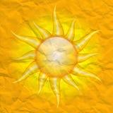 Schade door de zon stock illustratie