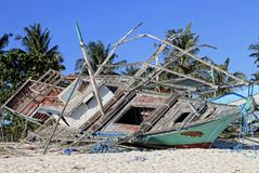 Schade na tyfoon royalty-vrije stock fotografie