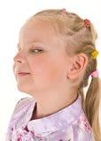 Schadelijk meisjesportret Stock Fotografie